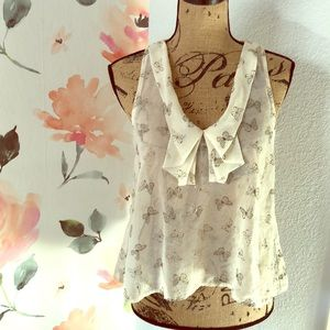 Tops - Gold butterfly top